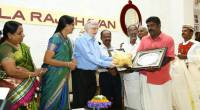 Honoring farmers at Kerala Raj Bhavan