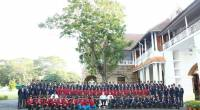 A group photo with NCC cadets of Kerala and Lakshadweep