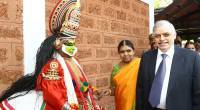 The  ISOCON2016 had a unique way to welcome the Governor at  Kozhikode, with an artiste of  Kathakali