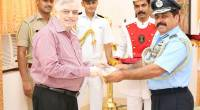 Air Marshal R K S Bhadauria AVSM VM, Air Officer Commanding-in -Chief, SouthernAirCommand visits Governor