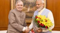 Governor Justice (Retd) P Sathasivam meeting Prime Minister Shri Narendra Modi at New Delhi.