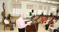 Addressing staff on Martyrs' Day, 2017