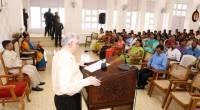 Governor addresses staff of Raj Bhavan on Independence Day, 2017