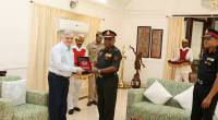 Lt. General P.M. Hariz, PVSM, AVSM, SM, VSM, ADC, General Officer-Commanding-in Chief,Southern Command, visits Governor