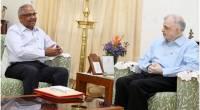 Shri.Sajeev Babu Kurup, Indian Ambassador to Guatemala calls on the Governor at Kerala Raj Bhavan.